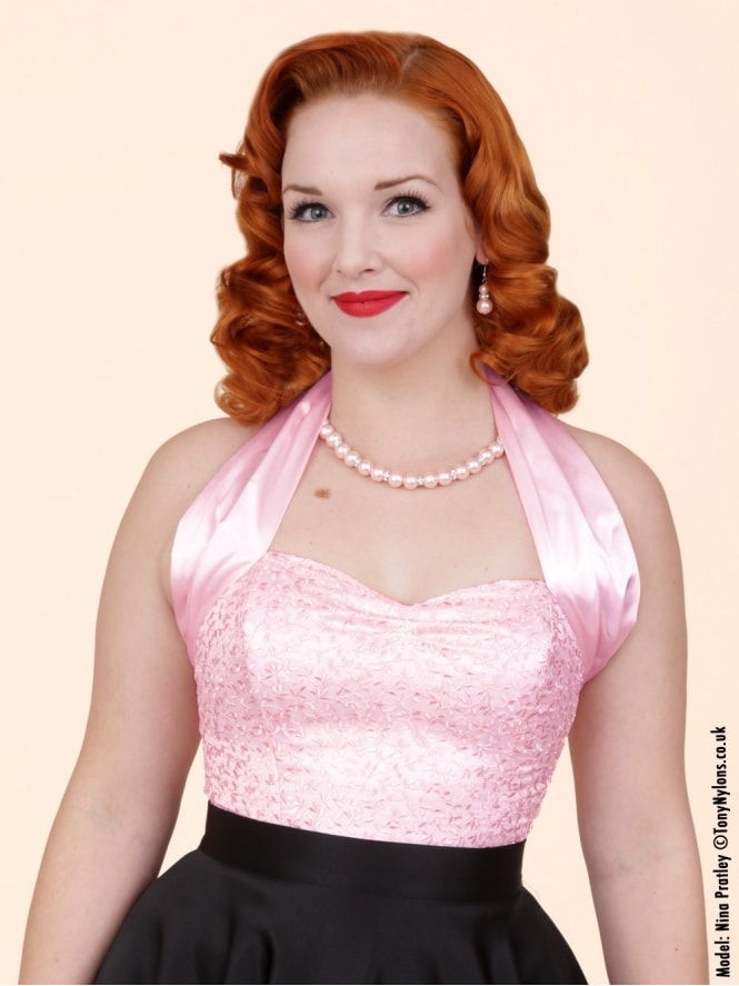 50s-1950s-Vivien-of-Holloway-Best-Vintage-Style-Reproduction-Repro-Halterneck-Top-Luxury-Ivy-Lace-Pink-Rockabilly-Swing-Pinup