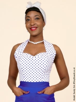 Halterneck Top White Royal Spot