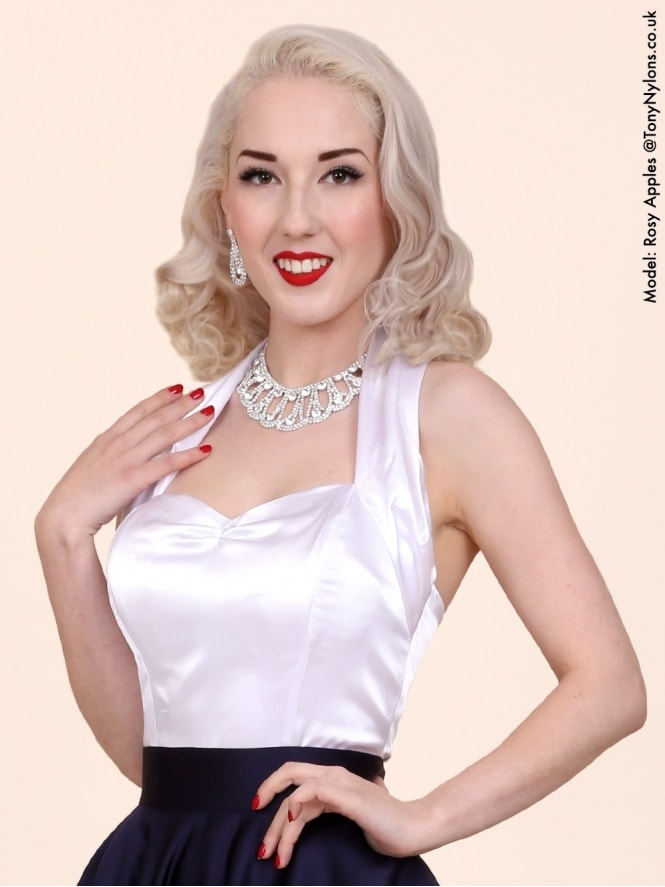 50s-1950s-Vivien-of-Holloway-Best-Vintage-Style-Reproduction-Repro-Halterneck-Top-White-Satin-Rockabilly-Swing-Pinup