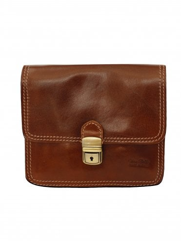 Italian Leather Large Brown Satchel Bag