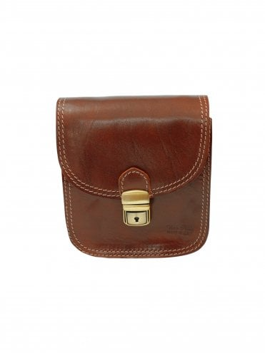 Italian Leather Small Brown Satchel Bag