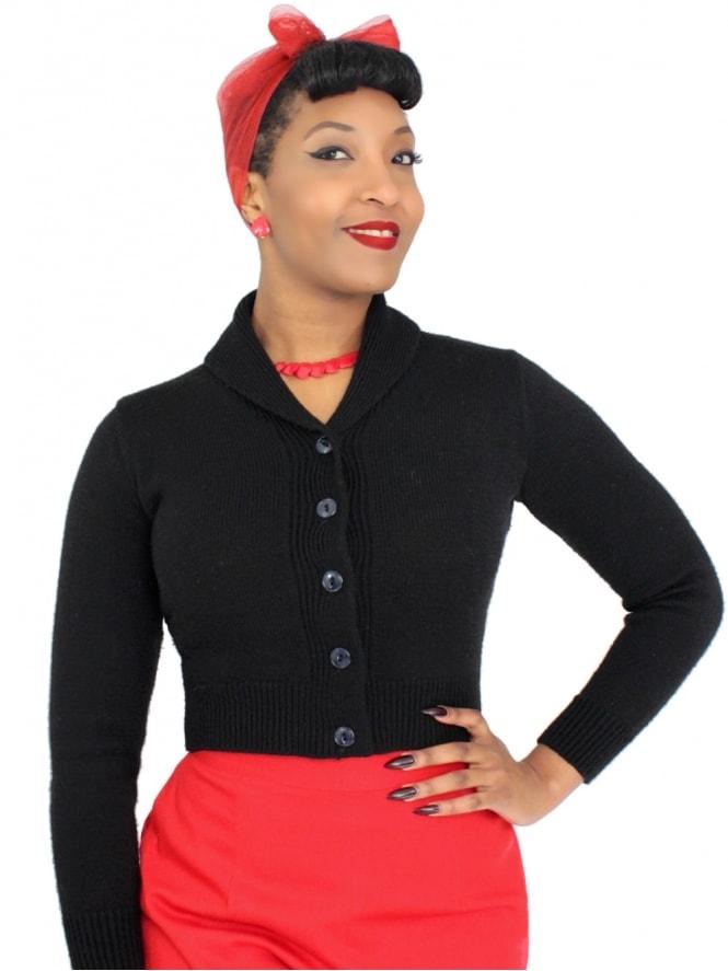 50s-1950s-1940s-40s-Vivien-of-Holloway-Best-Vintage-Style-Reproduction-1940sJenny-Cardigan-Black-Rockabilly-Pinup-Pinupgirl-vintage-vintagestyle-Rocker-Jive