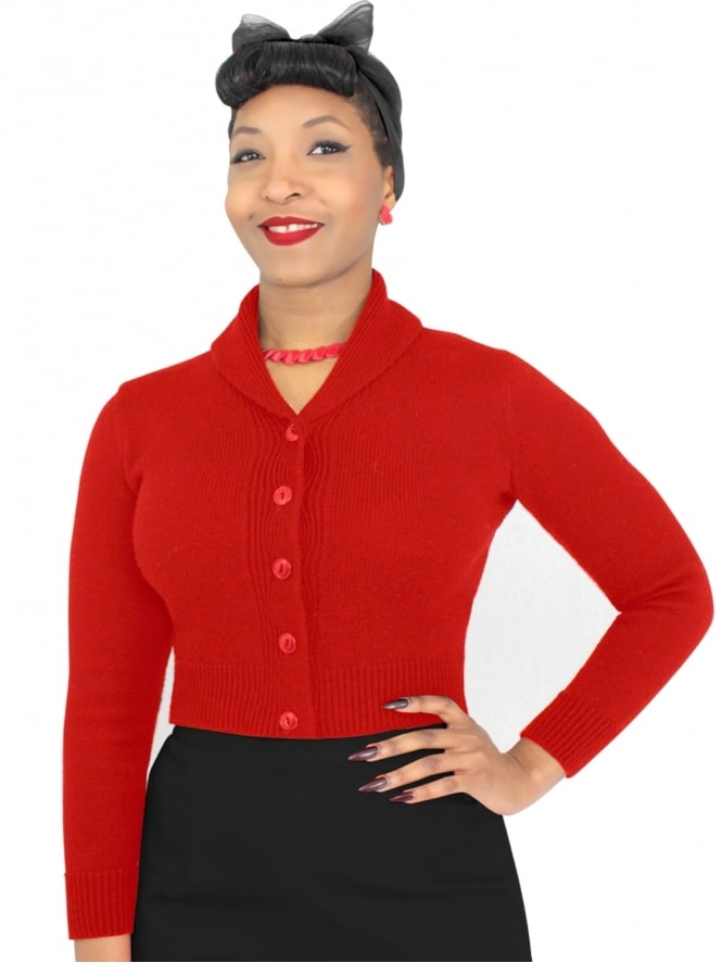 50s-1950s-1940s-40s-Vivien-of-Holloway-Best-Vintage-Style-Reproduction-1940sJenny-Cardigan-Red-Rockabilly-Pinup-Pinupgirl-vintage-vintagestyle-Rocker-Jive