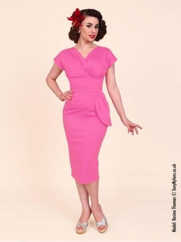 Jezebel Cerise Sateen Dress