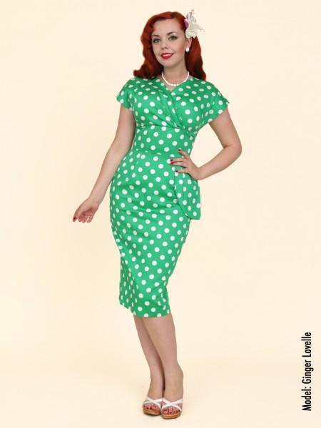 947838af45 Jezebel Green White Polka Dress from Vivien Of Holloway