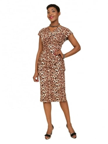 50s-1950s-Vivien-of-Holloway-Best-Vintage-Reproduction-Jezebel-Pencil-Wiggle-Wrap-Dress-Leopard-Brown-Animal-Print-Hollywood-Pinup