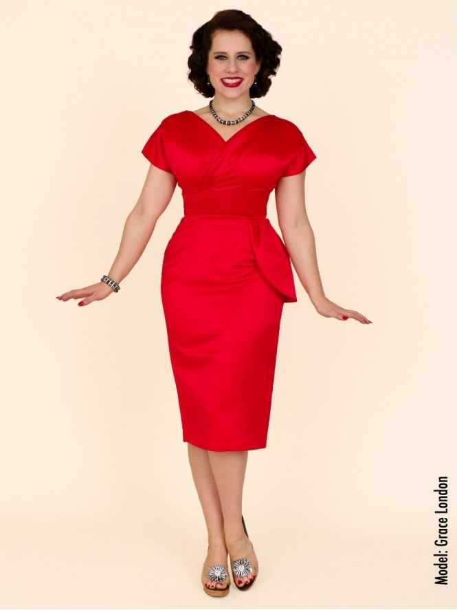 50s-1950s-Vivien-of-Holloway-Best-Vintage-Reproduction-Jezebel-Pencil-Wiggle-Wrap-Dress-Red-Duchess-Satin-Hollywood-Pinup
