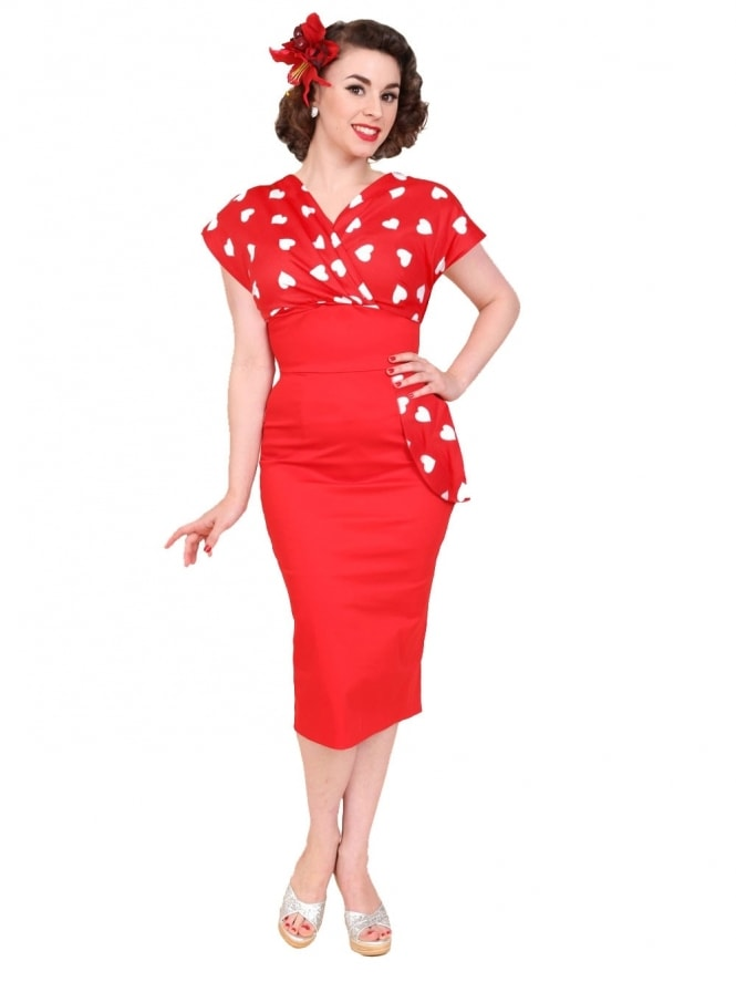 50s-1950s-Vivien-of-Holloway-Best-Vintage-Reproduction-Jezebel-Pencil-Wiggle-Wrap-Dress-Red-White-Sweetheart-Heart-Print-Hollywood-Pinup