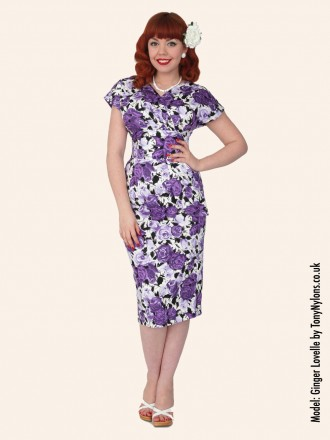 Vivien Of Holloway Wild Rose Purple Jezebel Dress