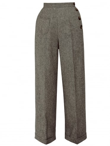 Katharine Trousers Donegal Walnut