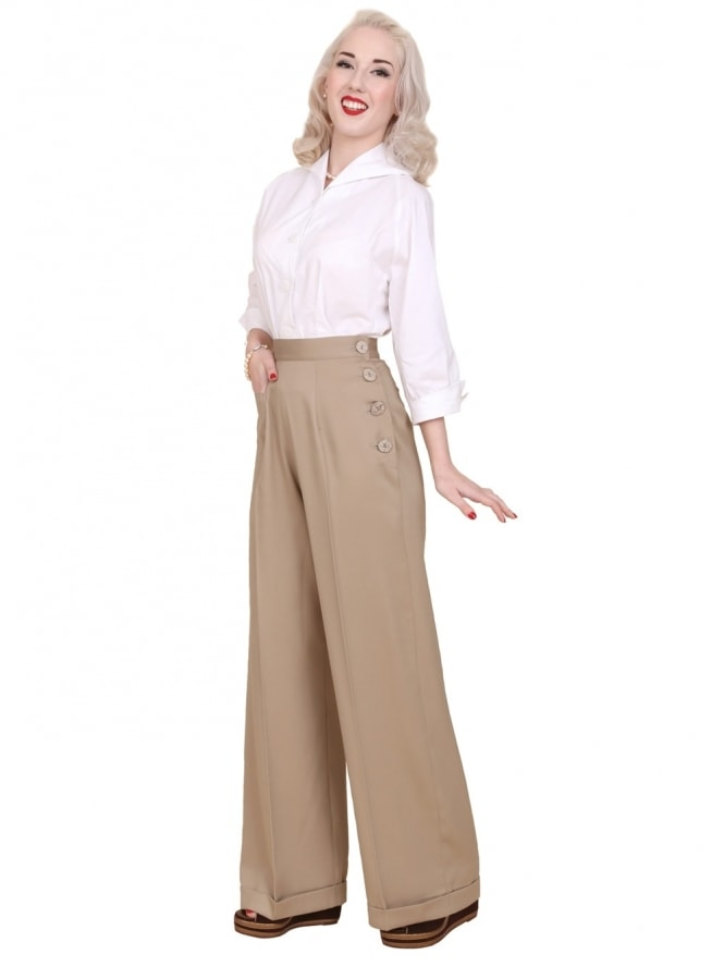 Katharine Trousers Sand Soft