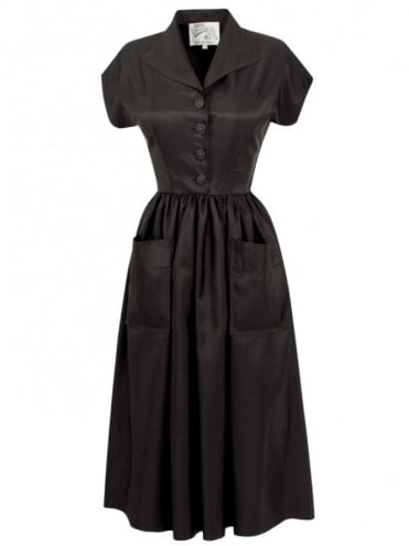 50s-1950s-Vivien-of-Holloway-Best-Vintage-Style-Reproduction-Kitty-Black-Taffeta-Rockabilly-Swing-Pinup