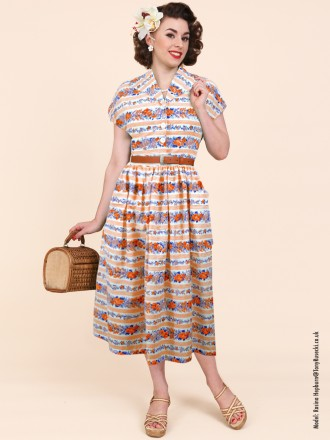 50s-1950s-Vivien-of-Holloway-Best-Vintage-Reproduction-Kitty-Day-Dress-Peach-Royal-Floral-Stripe-Rockabilly-Swing-Pinup