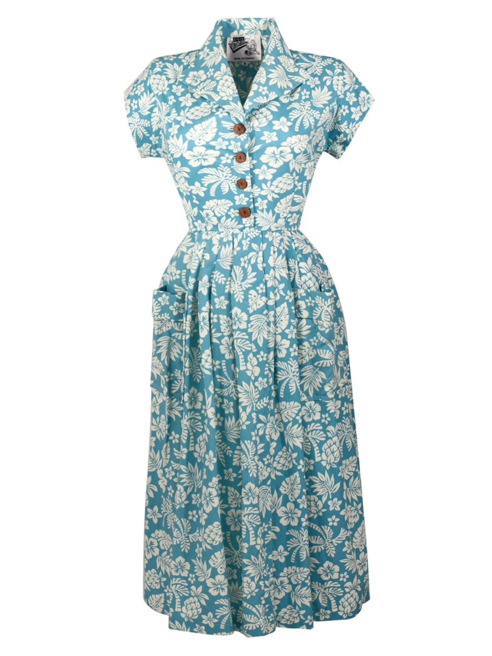 477716b46cbec Kitty Dress Pineapple Baby Blue from Vivien of Holloway