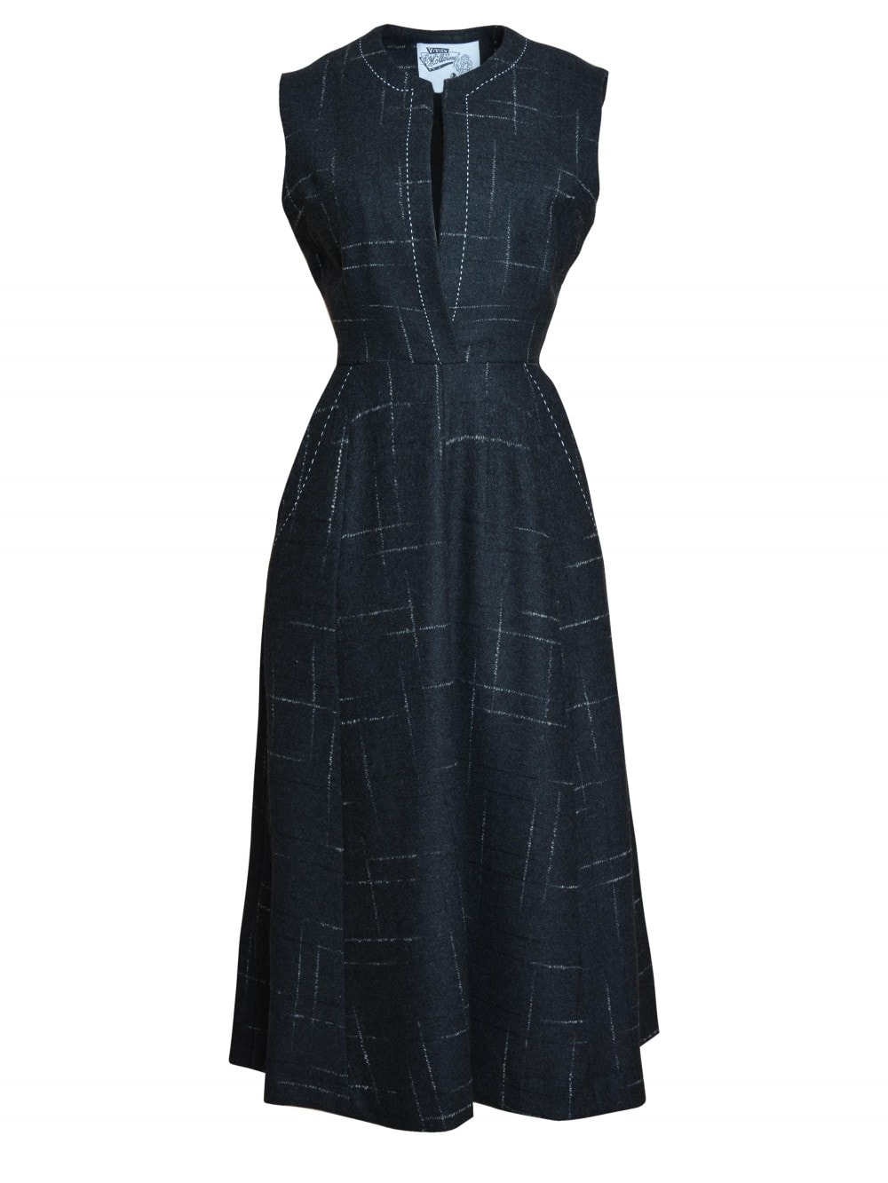 4a3ec9cddddb15 Laura Dress Charcoal Fleck from Vivien of Holloway