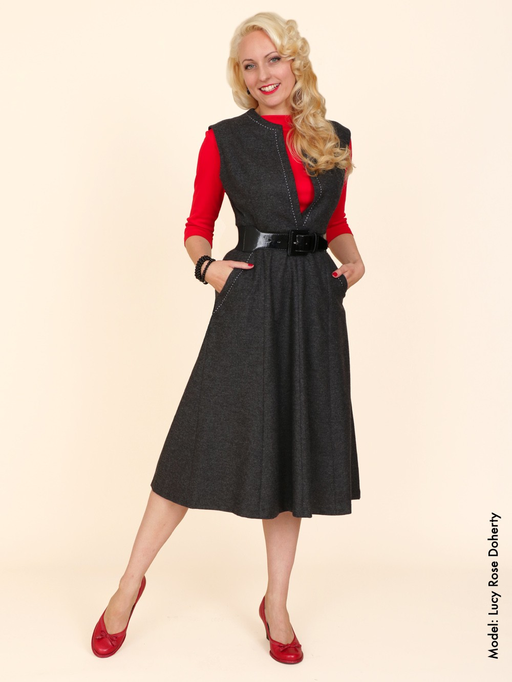 Laura Dress Grey From Vivien Of Holloway