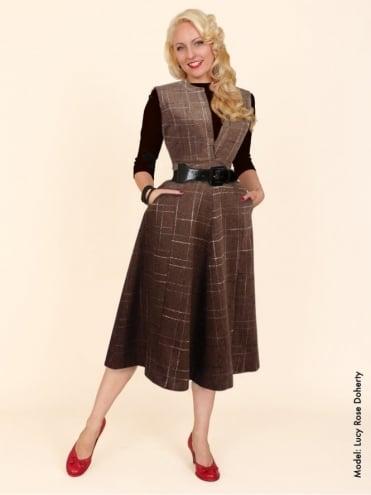 Laura Mocha Fleck Dress