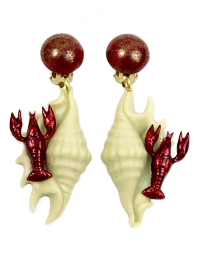 Lobster Clip On Earrings