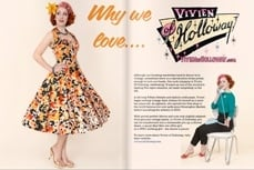 Vivien of Holloway in Judy's Affordable Vintage Magazine, April 2015