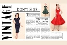 Christmas Party dresses by Vivien of Holloway in Vintage Life Magazine, Dec 2014