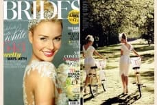 Vivien of Holloway in Brides Magazines, sept-oct 2013