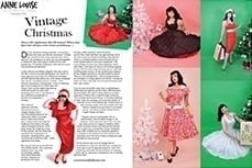 Vivien of Holloway Christmas Dresses in Anna Louise Magazine, dec 2010