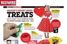 Vivien of Holloway Valentine Dress in Bizarre Magazine, 19 jan 2010
