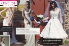 Vivien of Holloway wedding dresses featured in a kentish weeding, july 2011