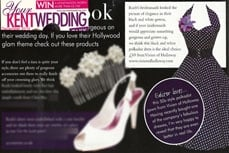 Vivien of Holloway in Your Kent Wedding magazine, December 2010