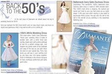 Vivien of Holloway White Dresses in Diamente bridal, jan 2010