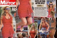 Gerri Halliwell wearing Vivien of Holloway in the Daily Mirror, 13 aug 2011