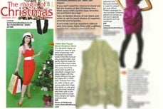 Vivien of Holloway 1950s Vintage Style Dress in the Black Pool Gazette magazine, dec 2011