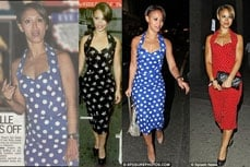 Amelle Berrabah wearing Vivien of Holloway 1950s Vintage Style Dress
