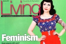Vivien of Holloway on the Living Magazine cover, april 2010