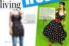 Vivien of Holloway's Pirate dress in Living magazine, 2009