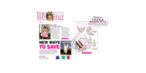 Vivien of Holloway in Perfect Wedding magazine, May 2011