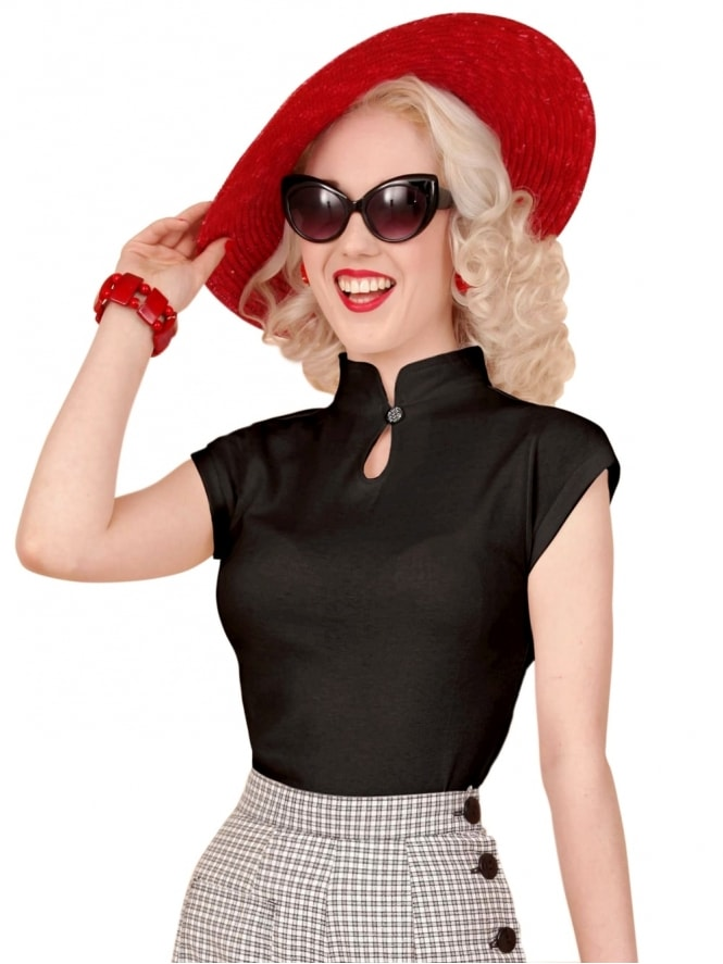 50s-1950s-Vivien-of-Holloway-Best-Vintage-Style-Reproduction-Repro-Mandarin-Top-Black-Rockabilly-Swing-Pinup