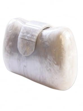 Marble Pearl Perspex Clutch