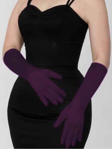 Medium Gloves Aubergine