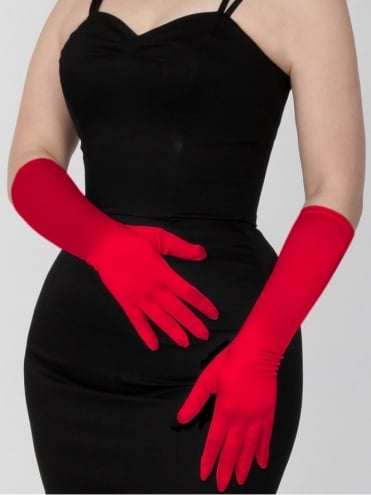 Medium Gloves Red