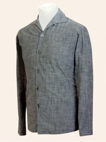 Men's Long-Sleeved Charcoal Shirt