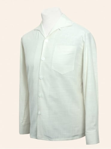Men's Long-Sleeved Ivory Shirt