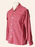 Men's Long-Sleeved SM Red Tartan Shirt