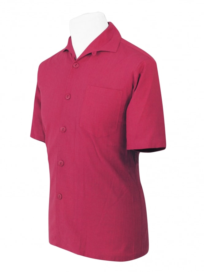 Men's Short-Sleeved Cerise Shirt