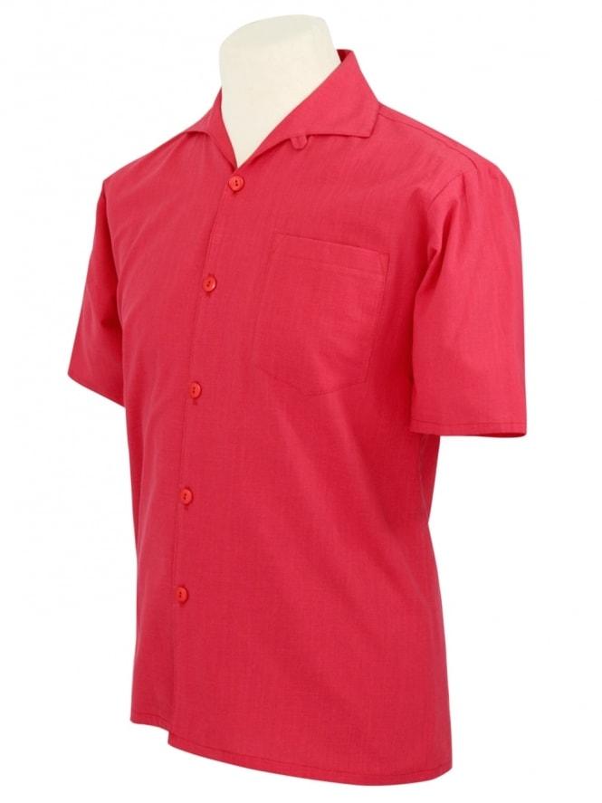 Men's Short-Sleeved Red Shirt