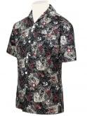 Men's Short-Sleeved Shirt Map Black