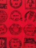 Men's Short-Sleeved Shirt Postmark Red
