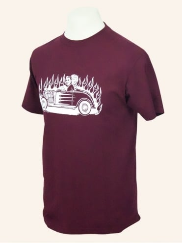 Men's Short Sleeved T-shirt Hot Rod Couple