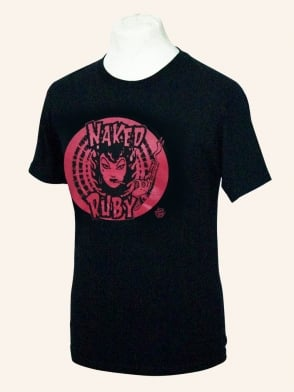 Men's Short Sleeved T-shirt Naked Ruby