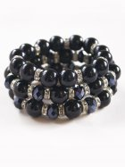 Midnight Blue Diamante Stretch Bracelet Set of 3